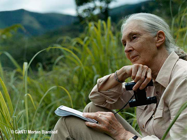 Jane Goodall. Photo by: Morten Bjarnhof/GANT.