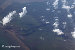 Aerial view of oil palm plantations on peatlands in Sumatra [java_0015]