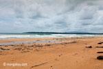 Waves breaking on a beach in Ujung Kulon