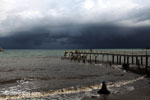 Dock and beach near Sunur