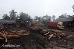 Indonesian sawmill in Java