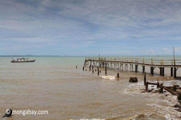 Pier in Sunur, near the Rhino Protection Unit outpost/local office for the Ujung Kulon National Park