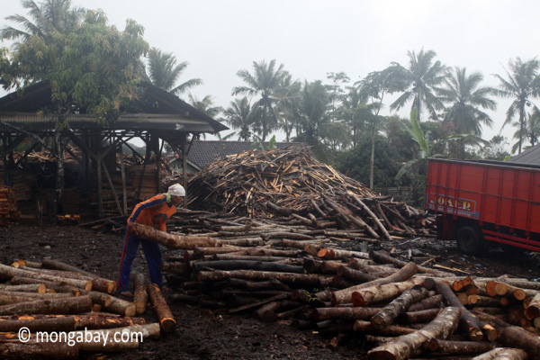Sawmill in Indonesia. Photo by: Rhett A. Butler.