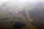 Aerial vew of burning peatlands in Indonesia's West Kalimantan province [kalbar_1198]