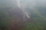 Aerial vew of burning peatlands in Indonesia's West Kalimantan province [kalbar_1206]