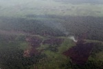 Aerial vew of burning peatlands and forest in Indonesian Borneo [kalbar_1244]