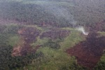 Airplane vew of burning peatlands and forest in Indonesian Borneo [kalbar_1240]
