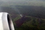 Aerial vew of burning peatlands and forest in Indonesian Borneo [kalbar_1226]