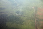 Aerial view of peat fires in Borneo [kalbar_2346]