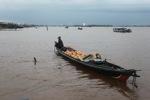 Floating logs in Banjarmasin