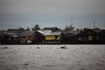 Homes along the Barito river in Banjarmasin