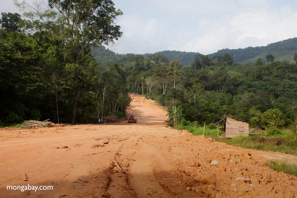 Mining road in Indonesia