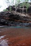 Red sand beach near Hana