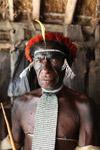 Dani man in traditional ceremonial dress
