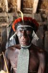 Dani man in traditional ceremonial dress [papua_0649]