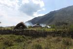 Smoke rising from a Dani village [papua_0732]