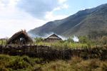 Smoke rising from a Dani village [papua_0734]