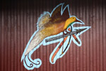 Danau Sentani simbol: bird of paradise membawa tombak