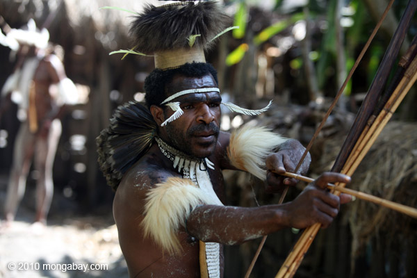 A Dani warrior in Indonesia's Papua province.