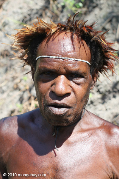 Papua man in tradition dress