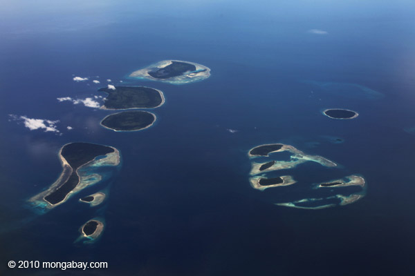 Islands off Bird's Head, northern New Guinea . Photo by: Rhett A. Butler.