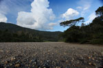 Dry river bed in the Amazon basin