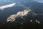 Open pit Lamal mine in the Peruvian Amazon