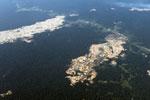 Open pit Lamal mine in Peru's Madre de Dios region