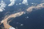 Plane photo of gold mining damage in Peru's Amazon rainforest