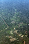Aerial photo of deforestation along a river in the Peruvian Amazon [peru_aerial_1072]