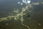 Deforestation along the Transoceanic highway in Peru