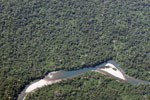 Milky turquoise river in the Amazon basin