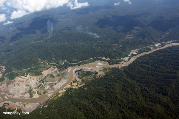Mine on a river in the upper Amazon
