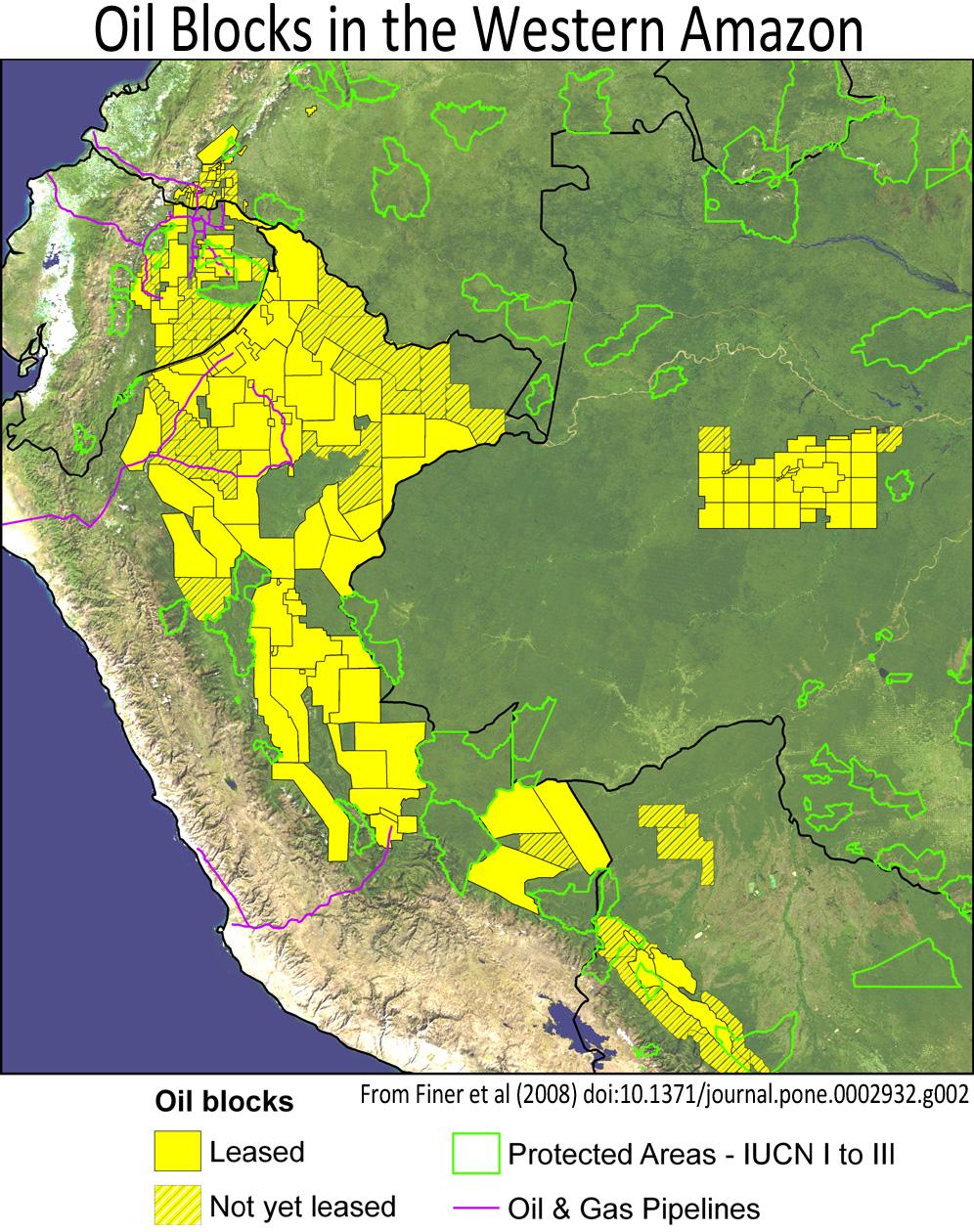 Oil Blocks In The Western Amazon