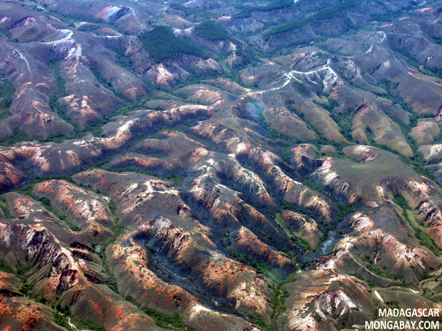 Aerial view of deforestation in eastern Madagascar