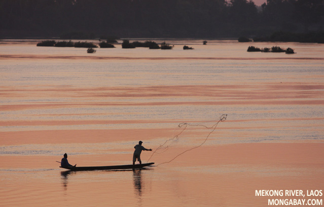 Fisherman in Laos
