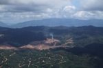 Fire burning on an oil palm plantation -- sabah_1816