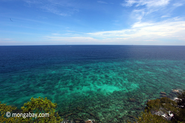 The Pacific Ocean as viewed from Sapi Island. Photo by: Rhett A. Butler.