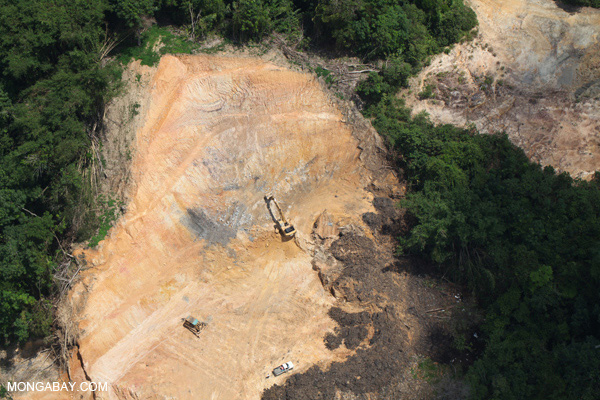 Deforestation in Malaysian Borneo. A recent analysis found that Malaysia, which is a part of the TPP, has the world's highest deforestation rate between 2000-2012. Photo by: Rhett A. Butler.
