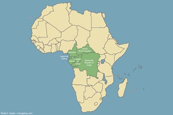 Map: Congo basin countries