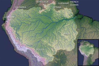 NASA ilustrasi Basin Amazon