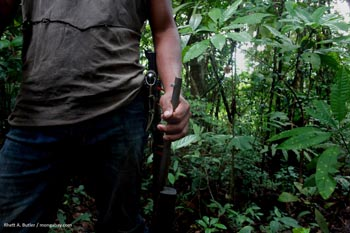 Armed hunter in Colombia
