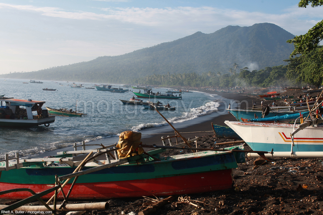 Coastal fishing village in North Sulawesi