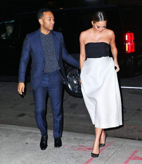 Chrissy teigen out for her 30th birthday thanksgiving weekend in new york monique lhiullier kurt geiger adam lippes 1