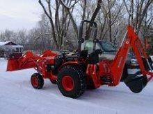 Tractor snow
