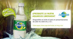 Aquarius suma el sabor Limonada a su amplio portafolio