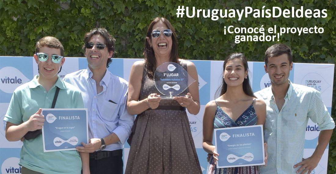 Vitale premió al ganador del concurso #UruguayPaís