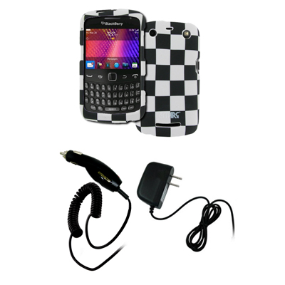 New for BlackBerry Curve 9350 Checker Hard Case Cover+Car+Wall Chargers at Sears.com