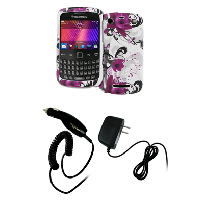 New for BlackBerry Curve 9370 Flower Hard Case Cover+Car+Wall Chargers at Sears.com