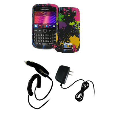 New for BlackBerry Curve 9360 Paint Hard Case Cover+Car+Wall Chargers at Sears.com